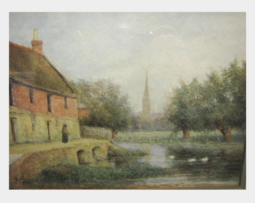 farm scene clipart, Cartoons - Farm Transparent Watercolor - Painting