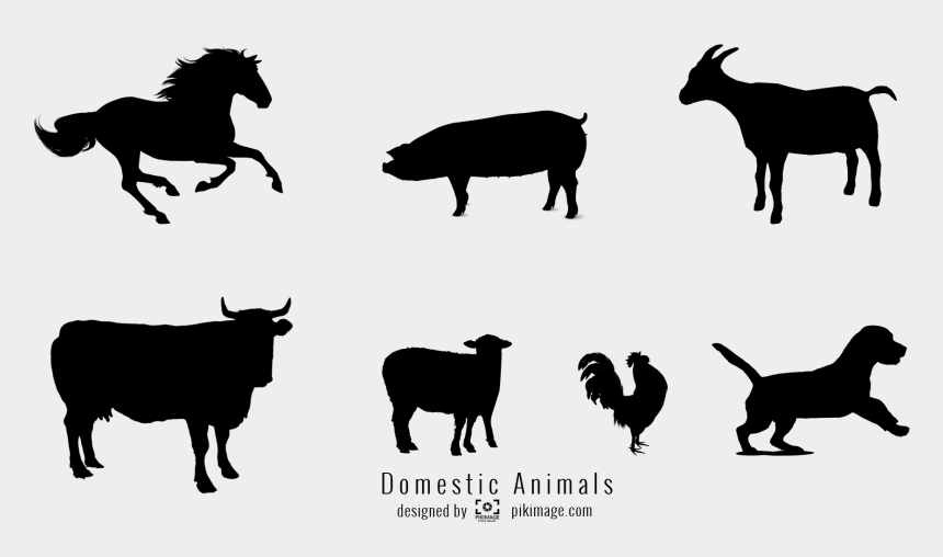domestic animals clipart, Cartoons - Horse Png File - Domestic Animal Animal Silhouette