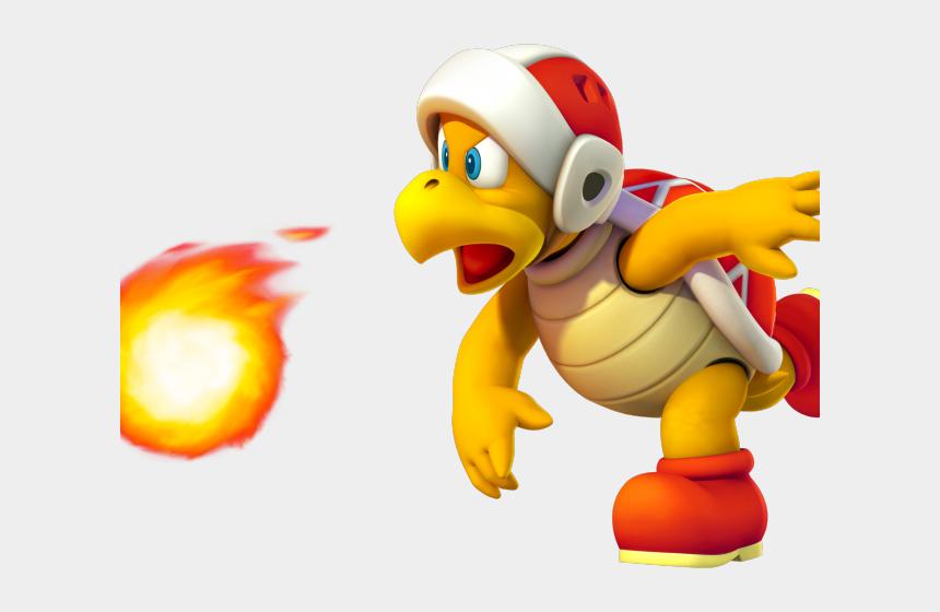 Fireball Clipart Bowser Mario Odyssey Fire Bro Cliparts