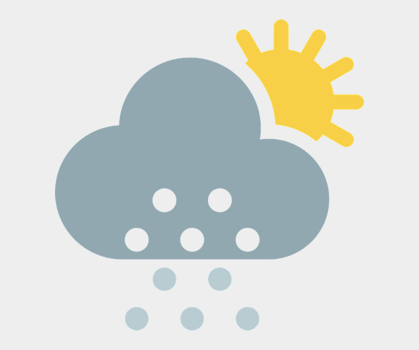 cloudy weather clipart, Cartoons - Cloud, Partly Cloudy, Sun, Snow, Winter, Weather - Cloud