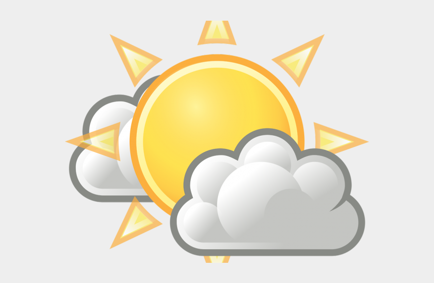 clipart weather symbols, Cartoons - Weather Symbols Sun With Clouds - Clouds At Night Clipart