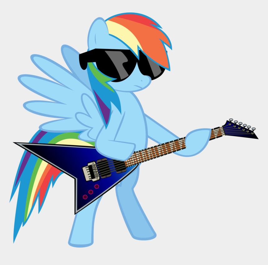 playing guitar clipart, Cartoons - Rainbow Clipart Guitar - Mlp Rainbow Dash Playing Guitar