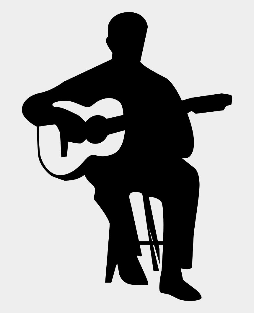 guitar player clipart, Cartoons - Guitar Player Png - Playing Guitar Silhouette Png