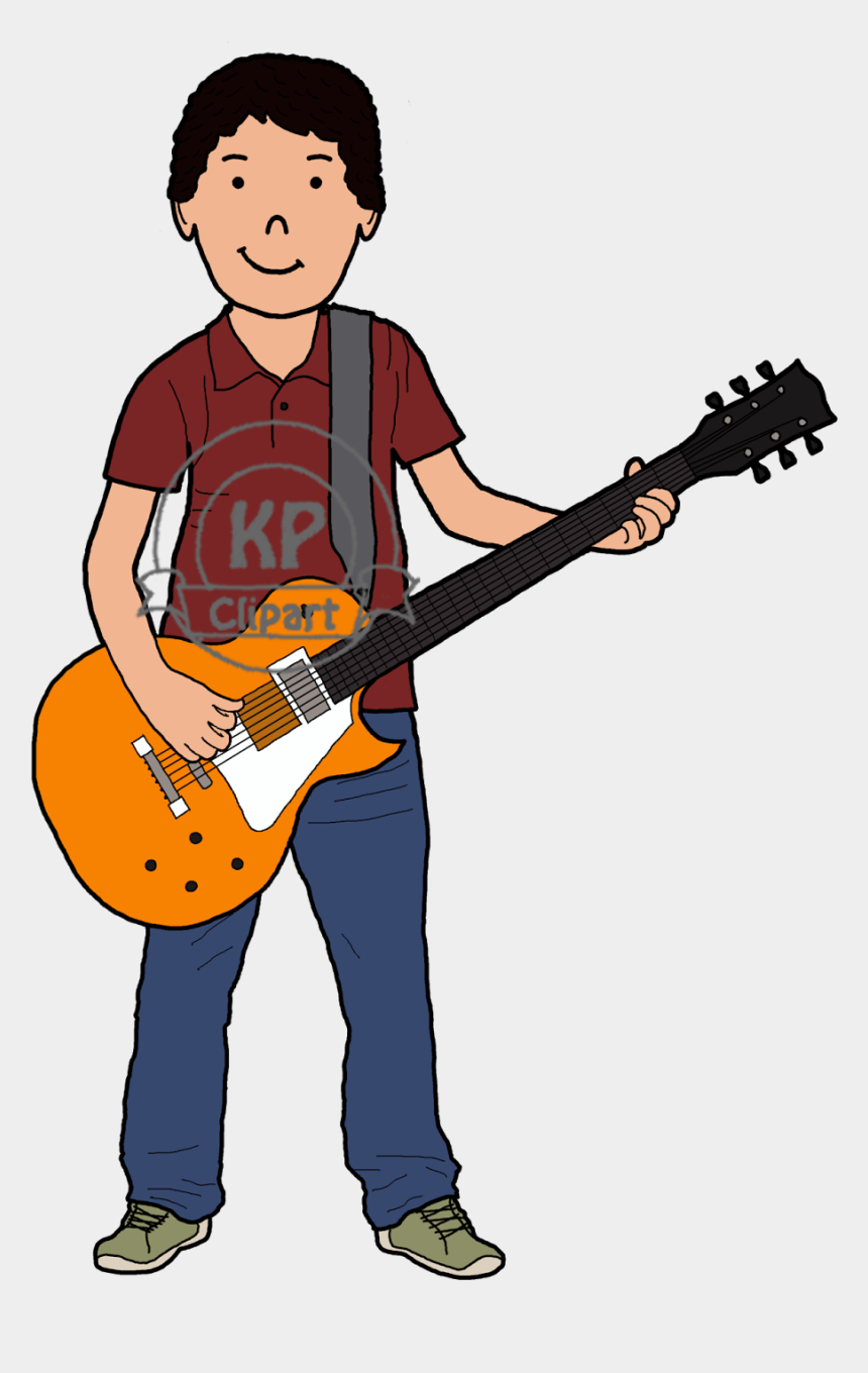 guitar player clipart, Cartoons - Max Gets To Play The Electric Guitar And Maya Is More - Playing Music Clipart