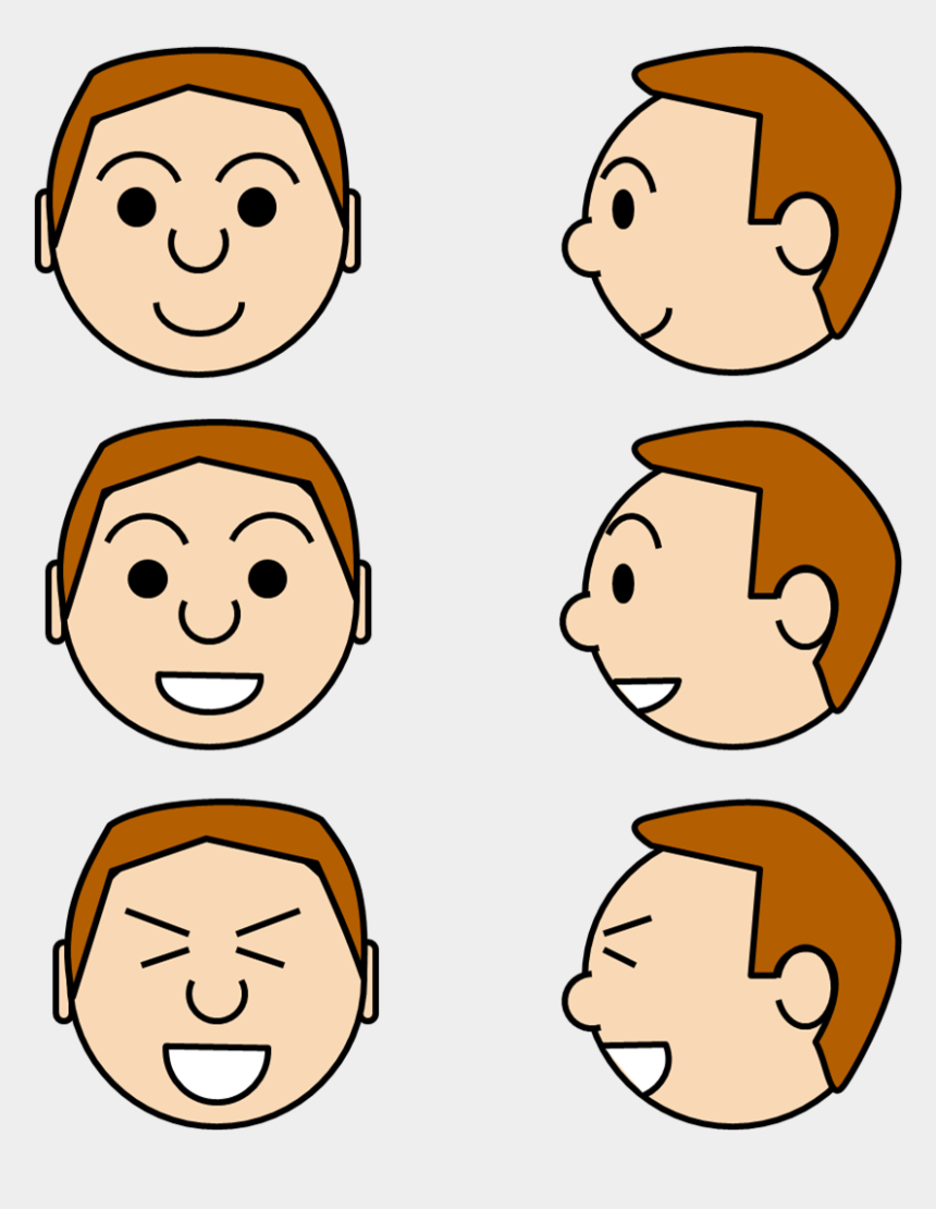 expression clipart, Cartoons - Images For Face Expressions Clipart - Face Cartoon Side View