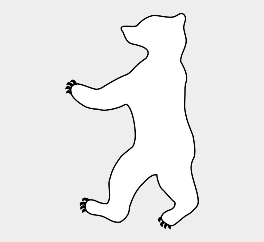 polar bear clipart black and white, Cartoons - Claws Vector Polar Bear - Line Art