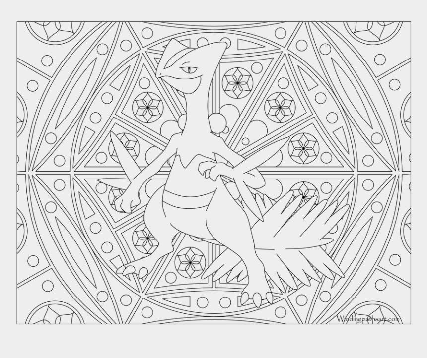 tiles clipart, Cartoons - Pokemon Sceptile Coloring Pages - Hard Pokemon Coloring Pages