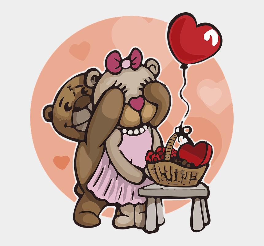 cute teddy bear clipart, Cartoons - Teddy Bear Love Bears Cute Fluffy Fur Plush - Teddy Bear Love Png