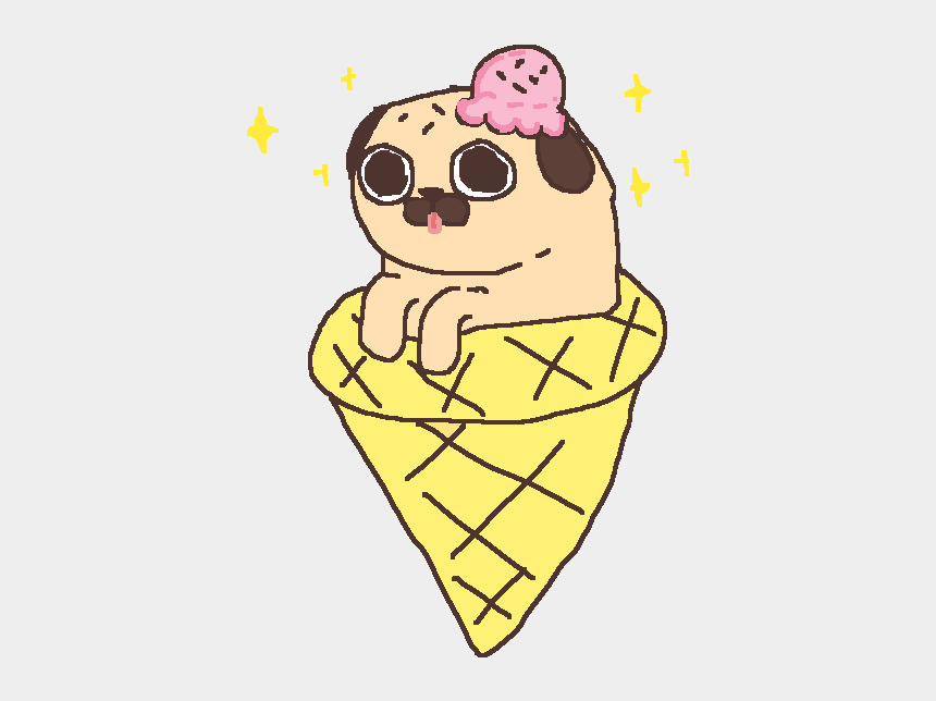 ice fishing clipart, Cartoons - Heh Clipart Ice Cream - Pug Kawaii Gif