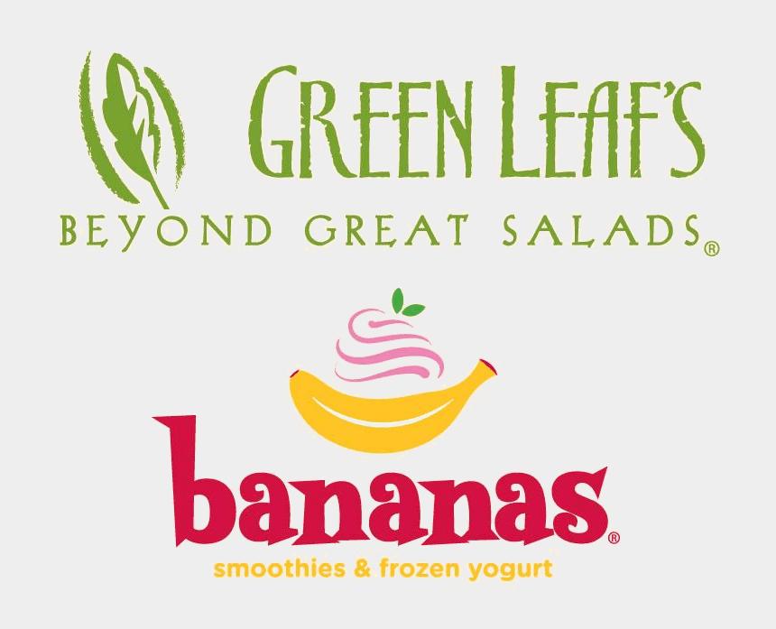 frozen yogurt clipart, Cartoons - Green Leaf's & Bananas Logo - Green Leaf's And Bananas Logo