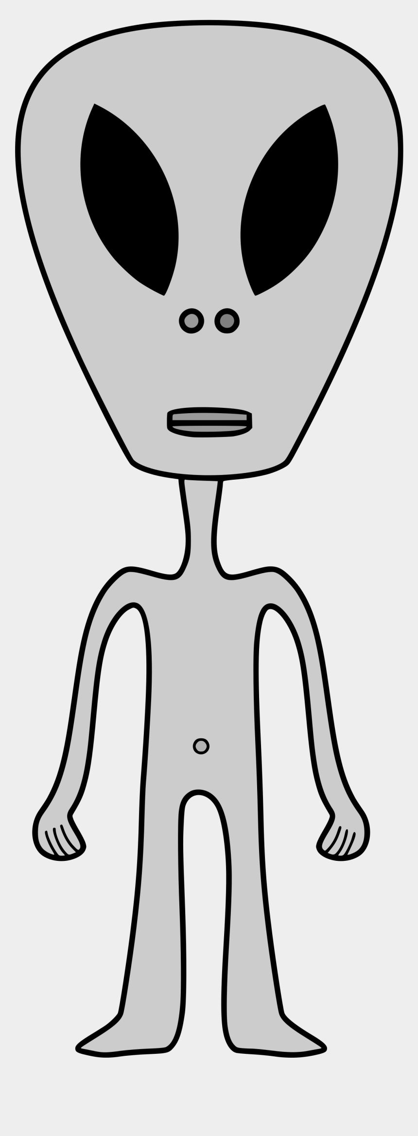 alien head clipart, Cartoons - Alien Svg Grey - People With Big Head And Skinny Body