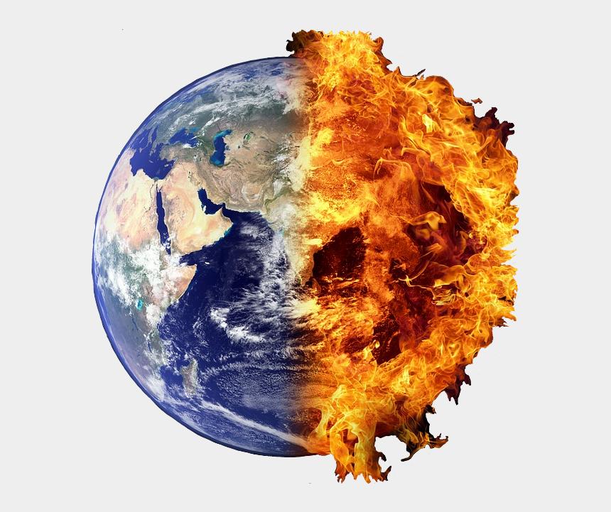 world globe clipart, Cartoons - Earth Clipart Fire - Half Earth Half Fire