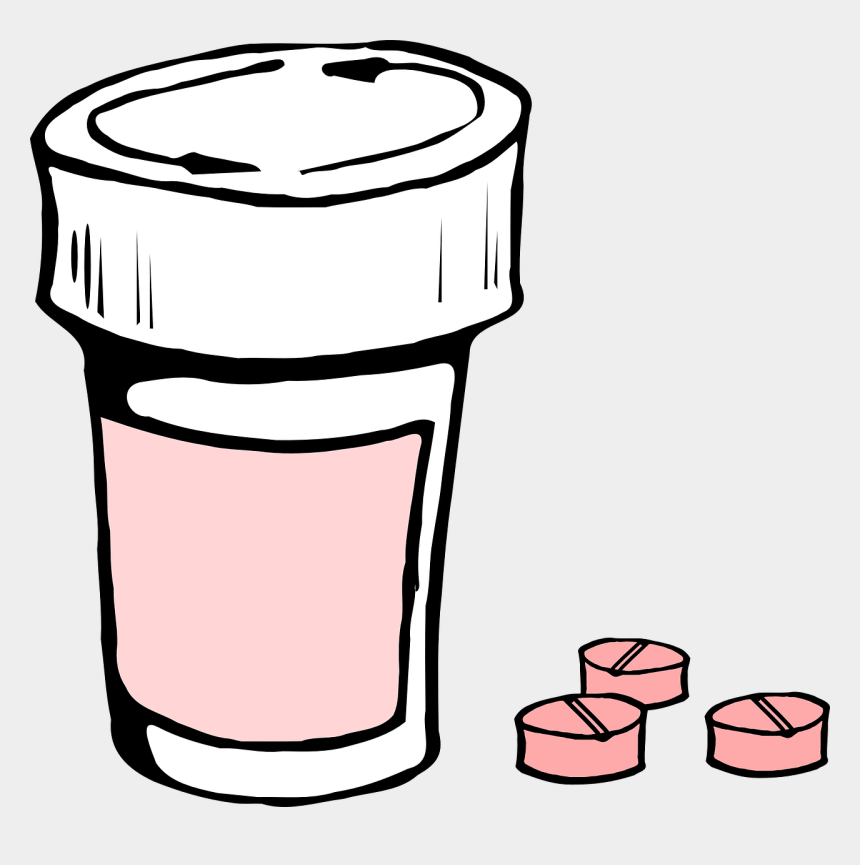 pill clipart, Cartoons - Pill Bottle Clipart Black And White