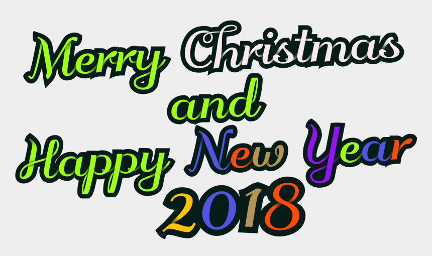 happy new year clip art, Cartoons - Merry Christmas And Happy New Year Png - Calligraphy