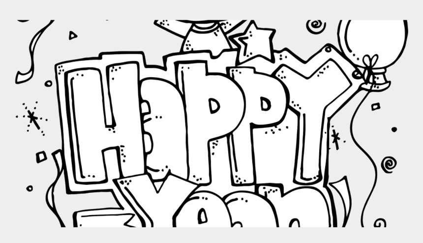 happy new year clip art, Cartoons - Happy New Year Freebie - Happy New Year Clipart Black And White