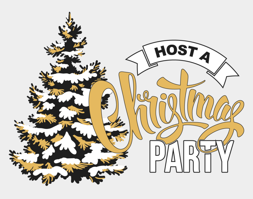 christmas party clip art, Cartoons - Christmas Party - Snow Tree Clipart Png