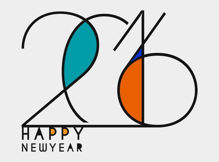 happy new year clip art, Cartoons - Text 2016 For Happy New Year Celebrations - Circle