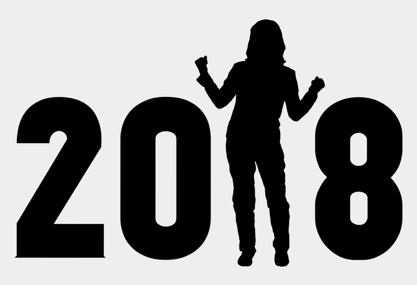 happy new year clip art, Cartoons - New Year, 2018, Lifestyle, Determination - Happy New Year 2018 Png Text