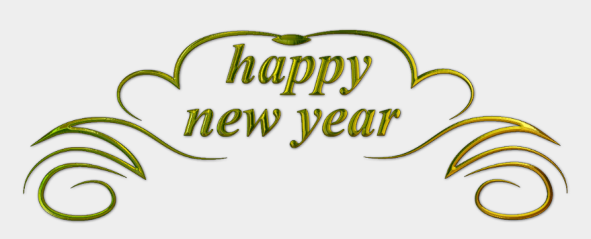happy new year clip art, Cartoons - Happy New Year Text 3 - Happy New Year Text Png Transparent