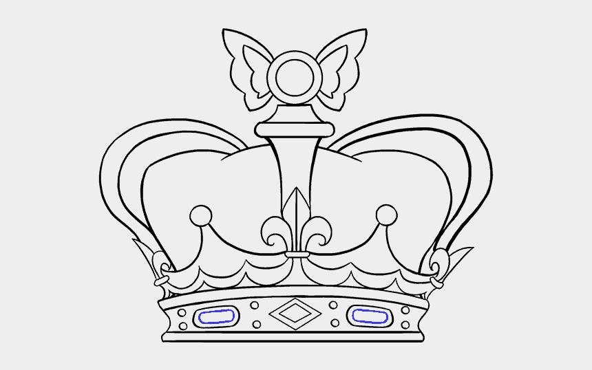 queen crown clip art, Cartoons - How To Draw A - Easy Drawing Of A Crown