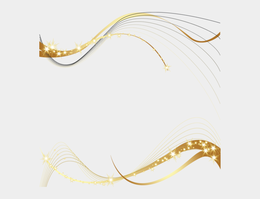christmas party clip art, Cartoons - Gold Border Decor Frame Stars Birthday Christmas Party - Gold Birthday Border