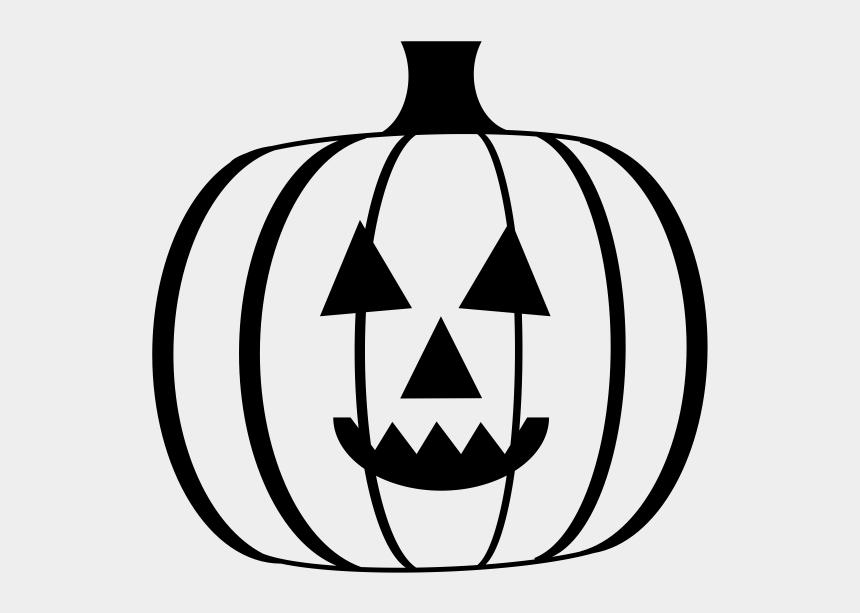 jack o lantern clipart black and white, Cartoons - Jack O Lantern Rubber Stamp - Jack-o'-lantern