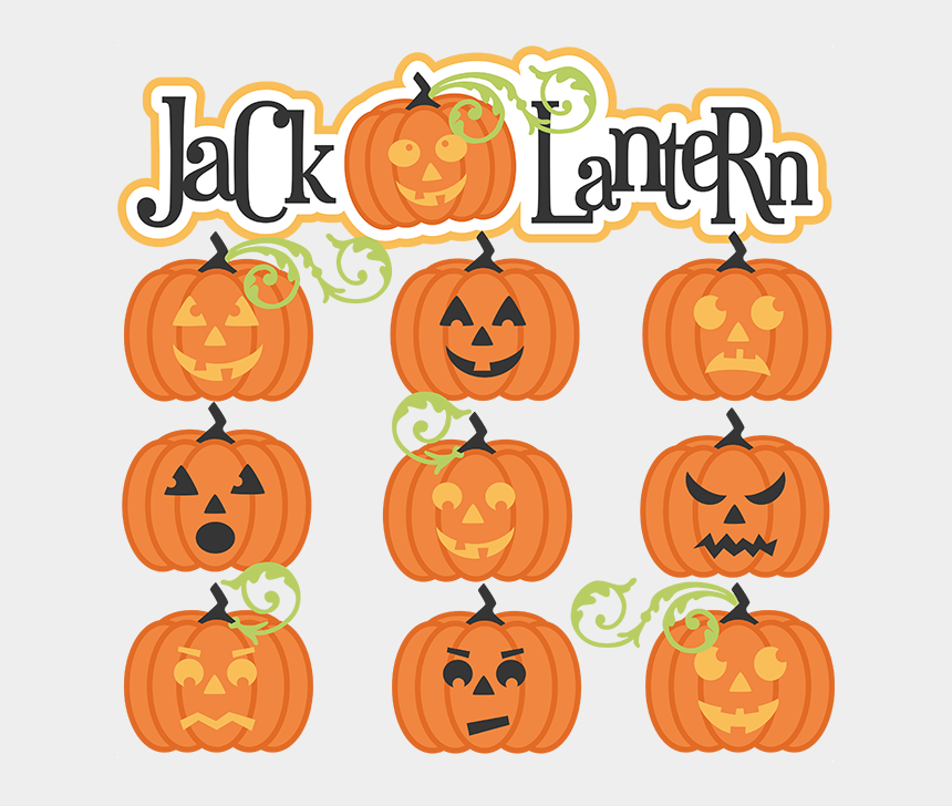jack o lantern clipart black and white, Cartoons - Cute Halloween Jack O Lantern Clipart - Jack O Lantern Svg Free