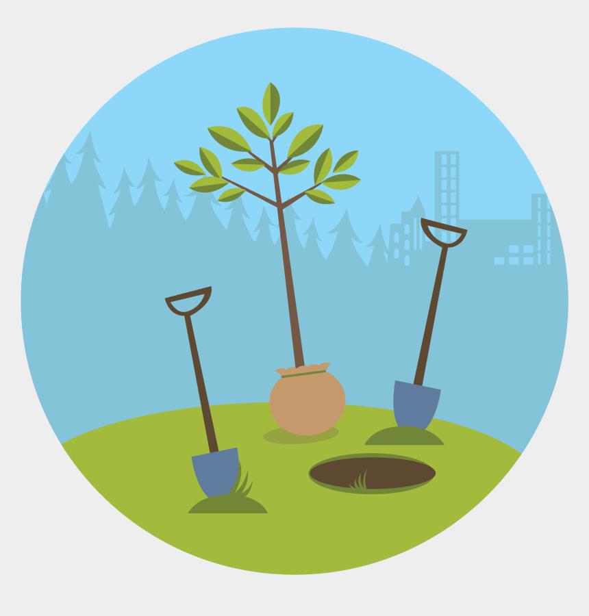 trees clip art, Cartoons - Planting Trees Clipart - Plant A Tree Illustration