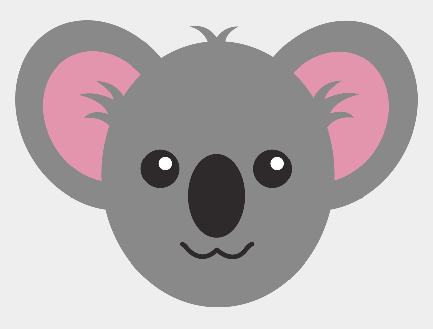 draw clipart, Cartoons - Animal Face Png - Draw A Koala Face