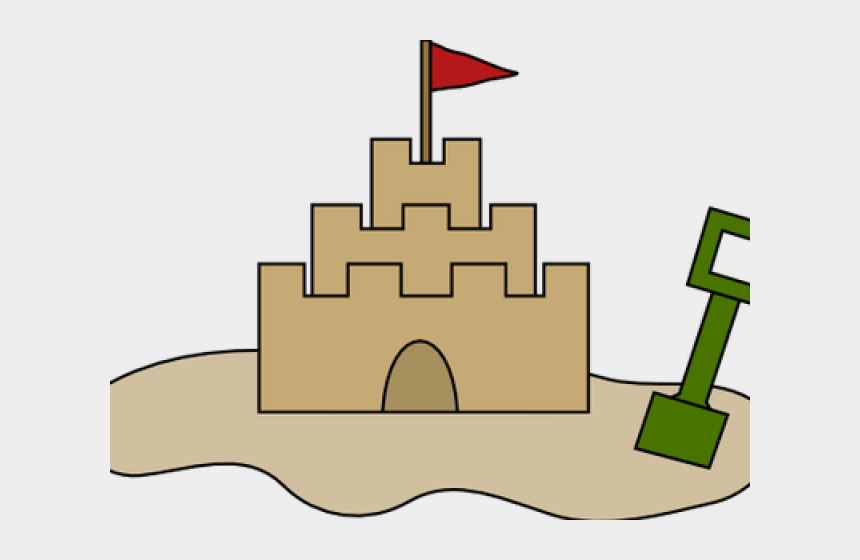 draw clipart, Cartoons - Sand Castle Clipart Draw - Sand Castle Cartoon Drawing