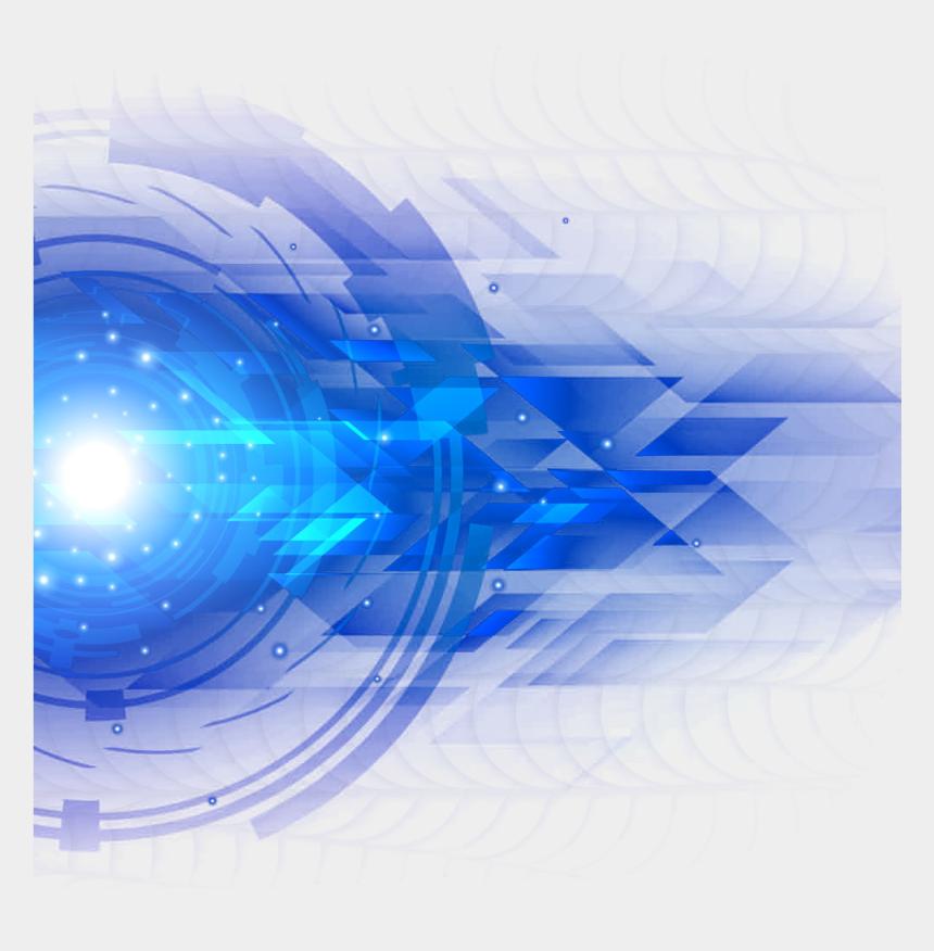 technology clip art, Cartoons - Blue And Light Effect Science Technology Clipart - Transparent Neon Light Png