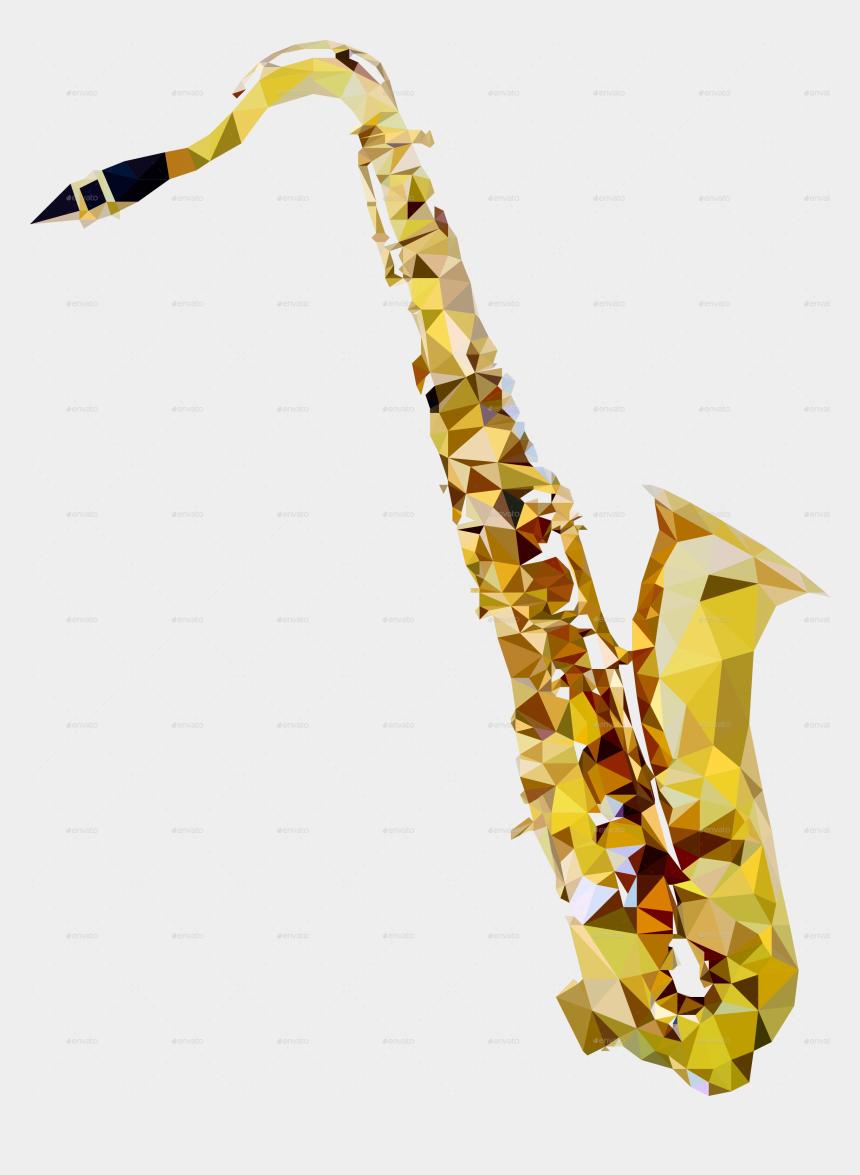 saxophone clip art, Cartoons - 15 Saxophone Vector Png For Free Download On Mbtskoudsalg - Music Instruments Low Poly