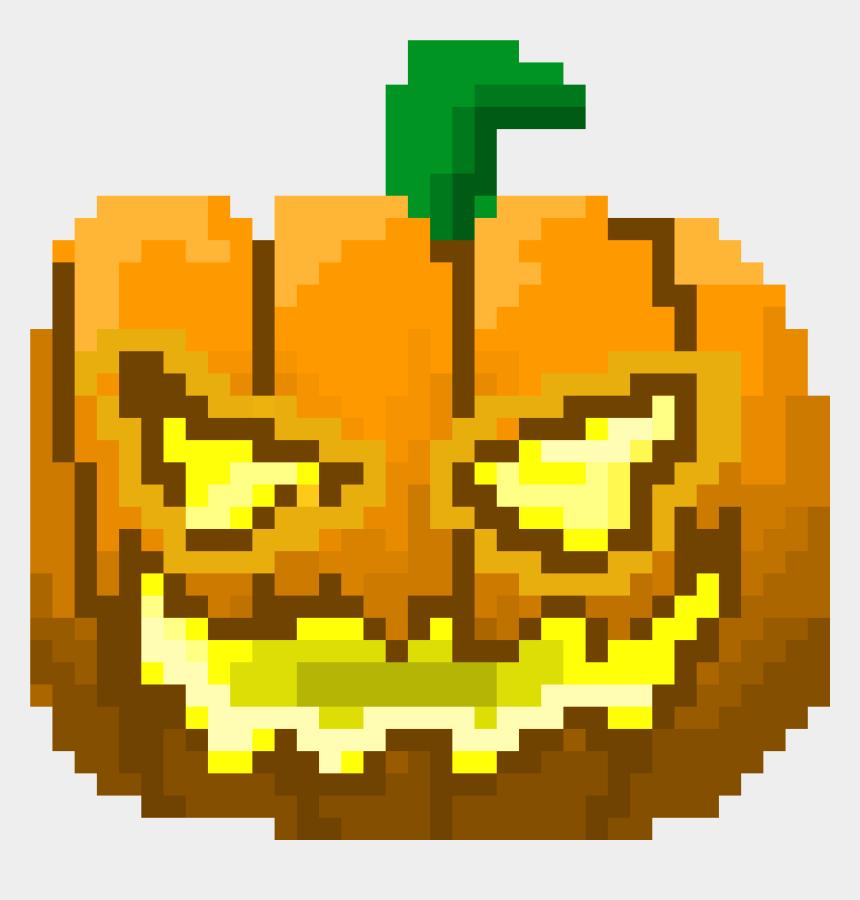 jack o lantern clip art, Cartoons - Jack O Lantern - Jack O Lantern Pixel Art