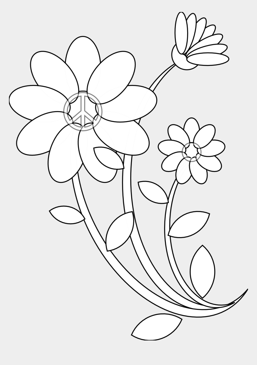 draw clipart, Cartoons - Images Of Line Drawing Of Flowers - Line Art Drawing Flowers