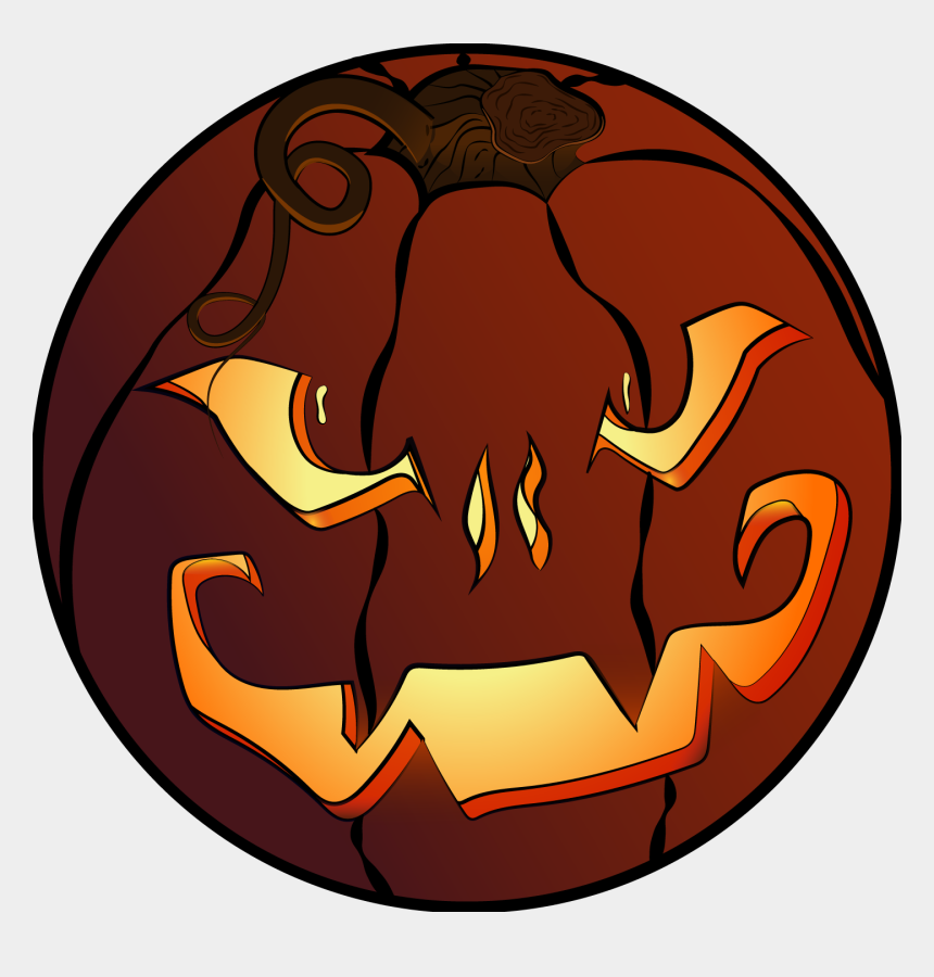 jack o lantern clip art, Cartoons - Pumpkin