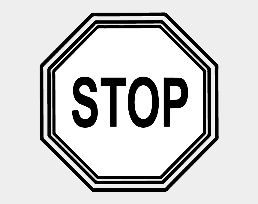 stop clip art, Cartoons - Stop Sign Clip Art - Stop Sign Clip Art Black And White