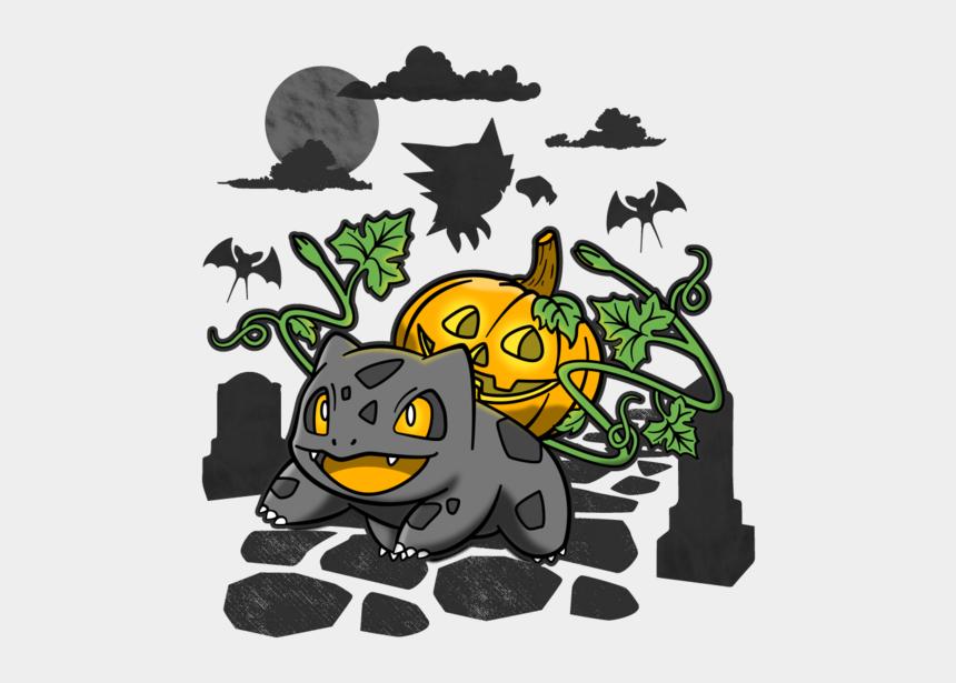 jack o lantern clip art, Cartoons - Bulb O Lantern - Bulbasaur Lantern Pumpkin Shirt