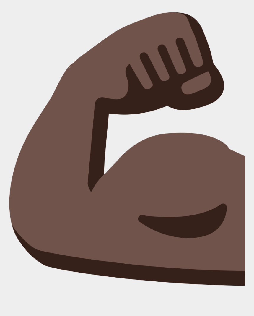 arm clip art, Cartoons - Bicep Clip Art - Strong Arm Emoji Brown