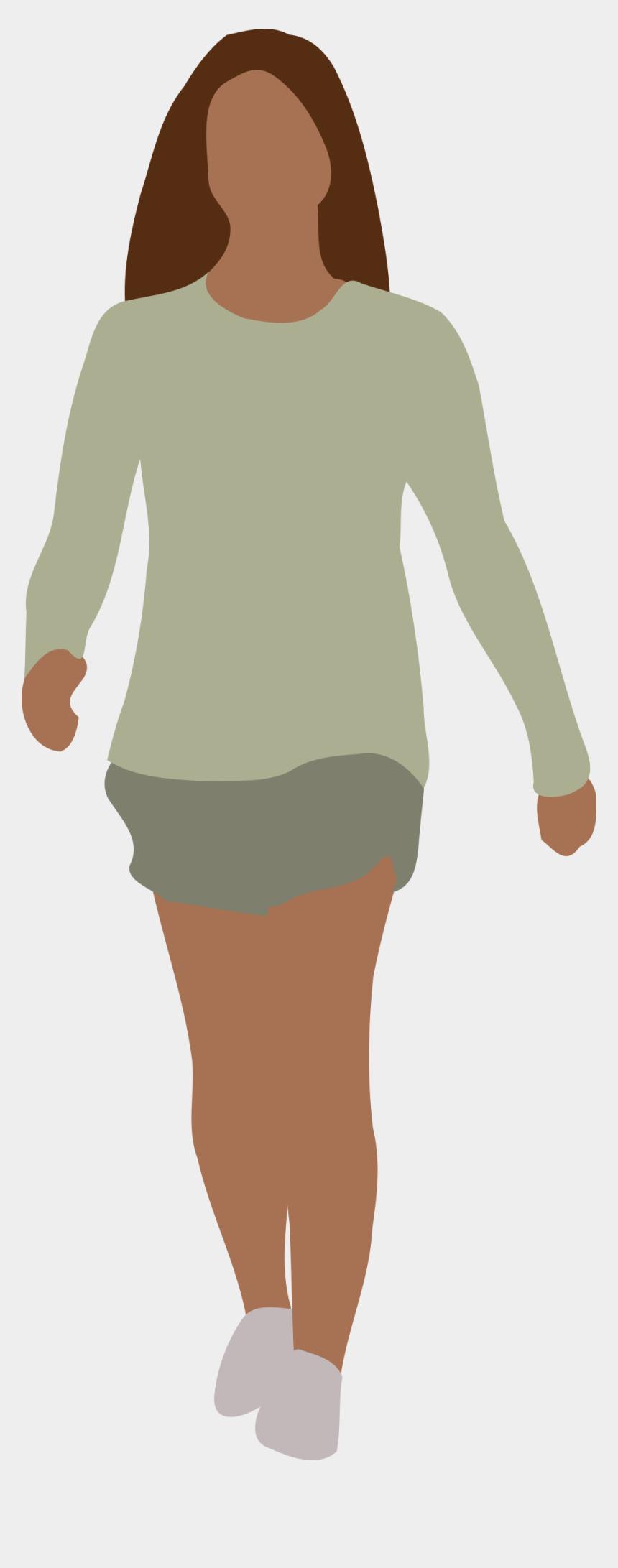 walking clip art, Cartoons - Faceless Woman Walking - Walking Woman Gif Png