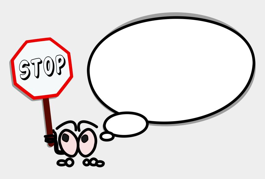 stop clip art, Cartoons - Bulle Gauche Stop - Kartun Stop