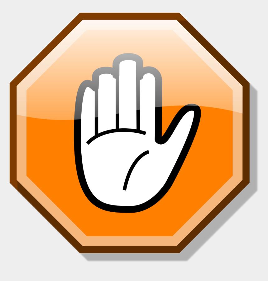 stop clip art, Cartoons - Stop Hand Nuvola Orange - Stop Hand Clip Art