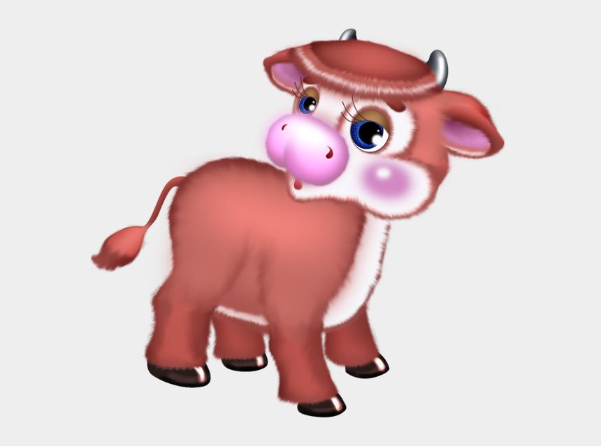 cows clipart, Cartoons - Cute Cow Clipart Transparent