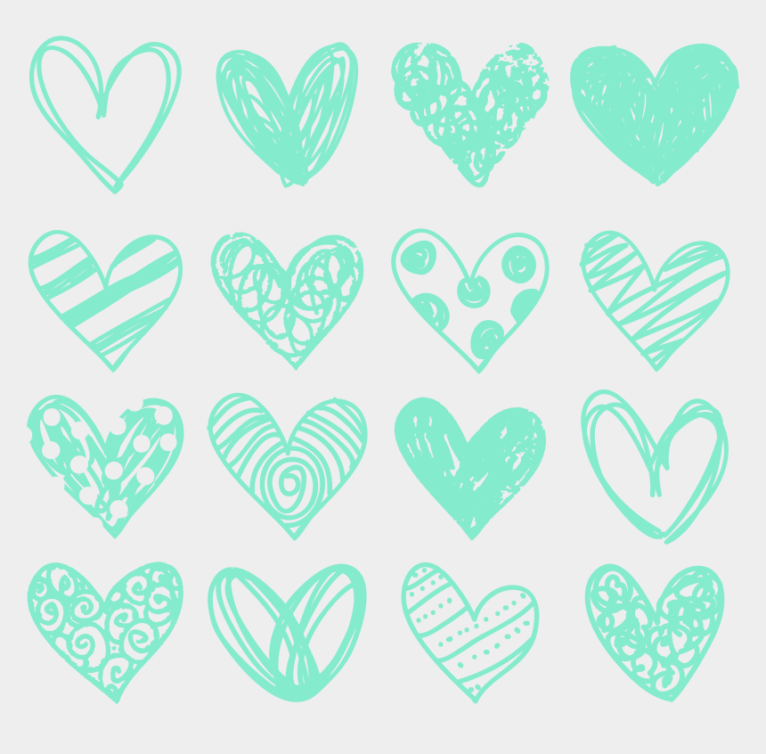 free heart clipart, Cartoons - Page 1 • Pages 2 •page - Doodle Heart Teal