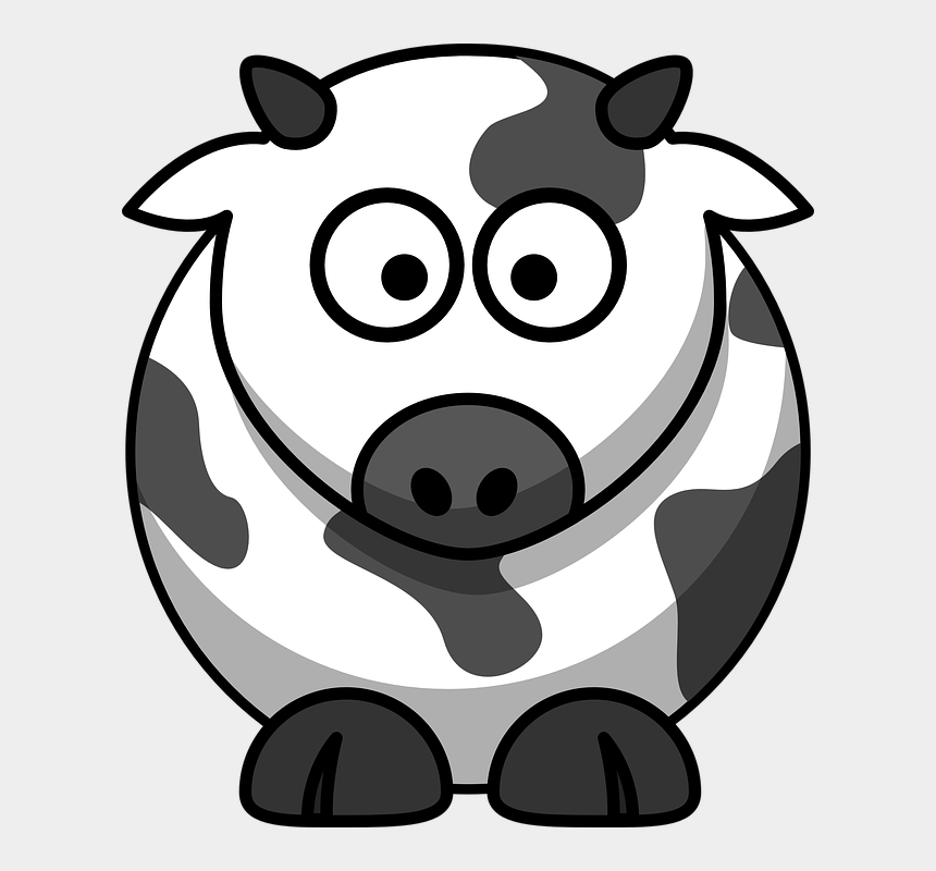 cows clipart, Cartoons - Cow, Beef, Cattle, Milk Cow, Animal - Clipart Cartoon Cow