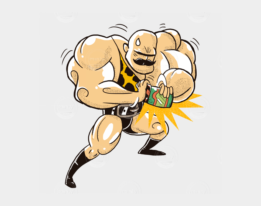 cucumber clipart, Cartoons - A Strong And Muscled Man Trying To Open A Pickles Pot - Strong Person Cartoon Png