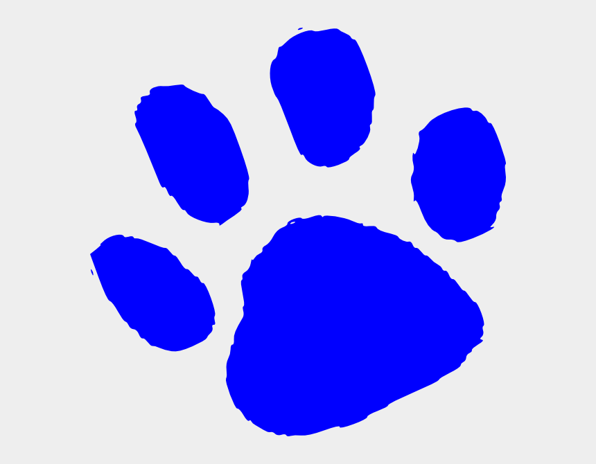 paw prints clip art, Cartoons - Blue Tiger Paw Print Clip Art - Blue Tiger Paw Print