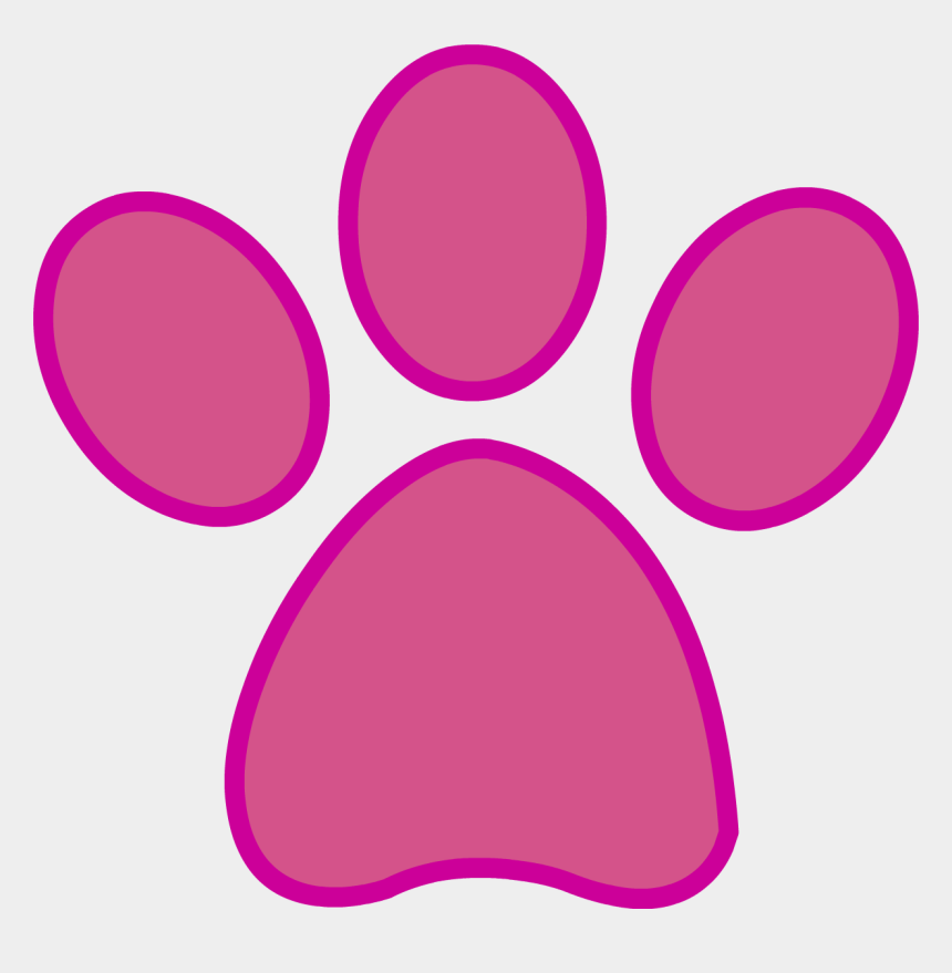paw prints clip art, Cartoons - Panther Paw Prints Clipart Png - Pink Panther Paw Print