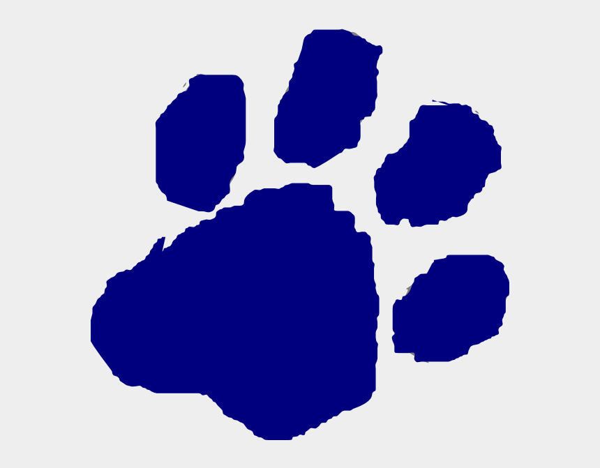 paw prints clip art, Cartoons - Blue Paw Print Clipart 90px Wide And Tall - Transparent Background Clip Art Cougar Paw