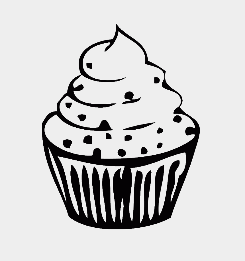 birthday cupcake clipart, Cartoons - Birthday Cupcake Is Small And Sweet Coloring Page - Cupcake Png