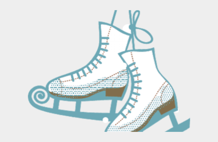 ice skate clipart, Cartoons - Shoe Clipart Figure Skating - Ice Skating Transparent Background
